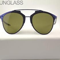 Christian Dior Reflected Sunglasses  Blue Black M2xa6 Case and Cloth Photo