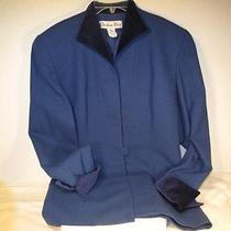 Christian Dior Royal Blue 100% Pure Wool Jacket Blazer 6 Photo