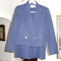 Christian Dior - Separates - Dress Jacket & Shirt - Blue - Size 10 - 100% Wool Photo