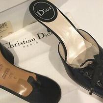 Christian Dior Shoes Heels Mules Black Size 8.5 Excellent  Photo