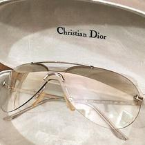 Christian Dior Silver Mini Aviator 29g 125 Sunglasses With Case Made in Italy  Photo