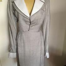 Christian Dior Skirt Suit -Mother of Pearl Buttons-Vtg Photo