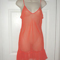 Christian Dior Slip Medium Orange See Thru Sexy High Quaility Pj Lingerie  Photo