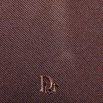 Christian Dior Solid Brown Neck Tie Photo