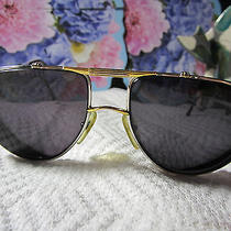 Christian Dior Sunglasses Designer Gold and Platinum Frames Aviator Style Photo
