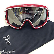 Christian Dior Sunglasses Goggles Genuine Snow Ski Bike Sport Red Shield Visor Photo