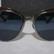 Christian Dior Sunglasses New Gunmetal Titanium Blue 1sq Ku 54 19 145 Photo