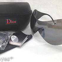 Christian Dior Sunglasses Ski 1 Authentic Bike Sport Shield Black Visor White Cd Photo
