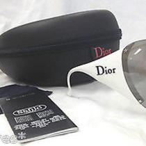 Christian Dior Sunglasses Ski 1 Authentic Bike Sport Shield White Black Visor Photo