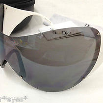 Christian Dior Sunglasses  Ski 1 Authentic Ski Bike Sport Black Shield White  Photo