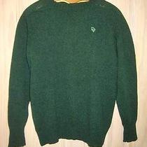 Christian Dior Sweater Crewneck Shetland Wool Logo Vintage 60s Green Preppy L  Photo
