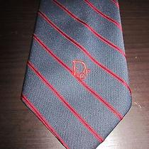 Christian Dior Tie Vintage Retro Stripe Photo