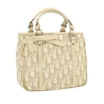 Christian Dior Trotter Canvas Hand Bag Beige Pvc Leather Auth Gt299 Photo