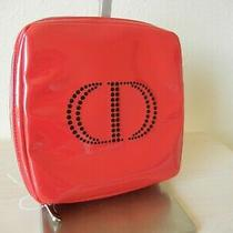 Christian Dior Trousse Pouch Accessory Case Square Shape Red New Photo