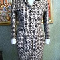 Christian Dior Two Piece Suit Detachable Collar/cuffs Size 2 Made Usa Photo