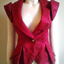 Christian Dior Very Rare Collector's Item Red Jacket Unique Design Us2-4 Photo