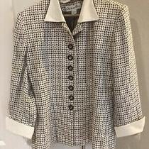 Christian Dior Vintage Designer Cream/taupe Blazer Jacket Size 8-10 (Flaw) Photo
