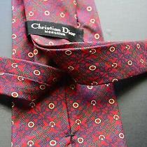 Christian Dior Vintage Mens 100% Silk Multi-Color Designer Mens Tie Photo