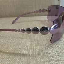 Christian Dior  - Vintage Purple Wraparound Sunglasses  A/f With Hard Case Photo