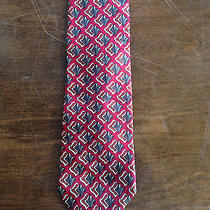 Christian Dior Vintage Red Pattern Tie Rare Designer Pattern Floral Unique Photo