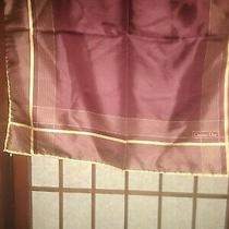 Christian Dior Vintage Square Twill Silk Scarf Trotter Monogram Purple/rust 18.5 Photo