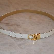 Christian Dior Vintage White Belt Photo