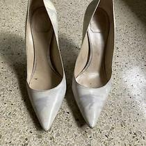 Christian Dior White Painted Heels Pumps Size 40 Used Authentic Made in Italy Photo
