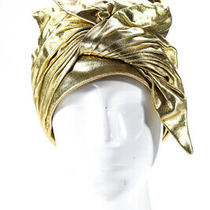 Christian Dior Womens Vintage Tie Accent Hat Gold Regular Photo
