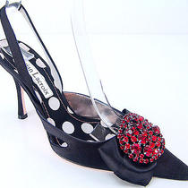 Christian Lacroix Luxurious Satin Swarovski Pumps 9.5 Photo