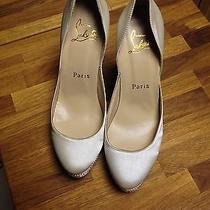 Christian Loboutin White Wedding Shoes Swarovski Crystal Photo