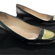 Christian Louboutin 42 Heels Gold Pump Black Preowned as-Is Womens Us 11 Shoes Photo