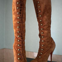 Christian Louboutin Alta Fifre Whiskey Corset Boots 41 Us 11 Photo