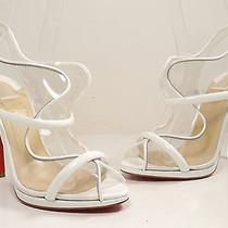 Christian Louboutin Aqua Ronda 120mm Sandal Pump White Size 37.5 Photo