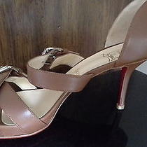 Christian Louboutin Atalanta Sandals 39.5 Cognac Photo