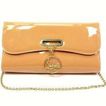 Christian Louboutin Beige Patent Leather Riviera Clutch Chain Mini Bag Photo