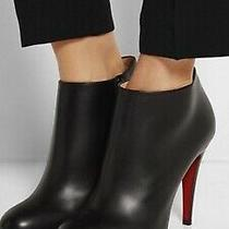 Christian Louboutin Belle Leather Red-Sole Ankle Boots( Authentic) Photo