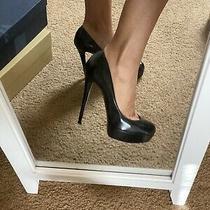 Christian Louboutin Bianca Pump 120 Black Soft Leather Heels Size 38.5 Photo
