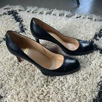 Christian Louboutin Black Fifi Patent Leather Pumps Size 38.5 Photo