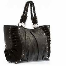Christian Louboutin Black Leather & Suede Spike Studded Shopper Tote Photo