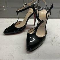 Christian Louboutin Black Patent Leather Heels Size 36.5 - 6.5 Photo