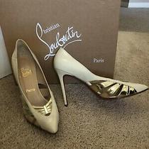 Christian Louboutin Brand New in Box Nude Size 40 Pump Heel Shoe 10 Photo