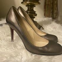 Christian Louboutin Dark  Gold Metallic Leather Pumps Size 35.5 Photo
