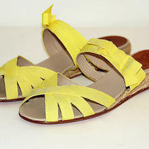 Christian Louboutin Delfin Shoes Sandal Flats Yellow 39 9 New Photo