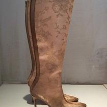 Christian Louboutin Dentelle Boots See Through Beige Nude Knee High Photo