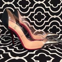 Christian Louboutin Djalouzi 100 Pvc Patent Pump Size 37/7 100% Authentic Photo