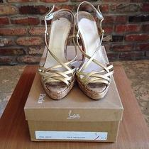 Christian Louboutin Gold Cork Photo