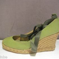 Christian Louboutin Green Espadrille Wedges Shoes Worn Twice 40 9 10 595 Photo