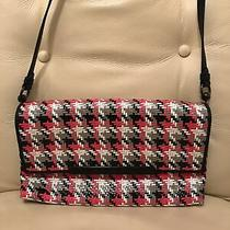 Christian Louboutin Handbag Crossbody Clutch Patent Leather Black/white/red Photo