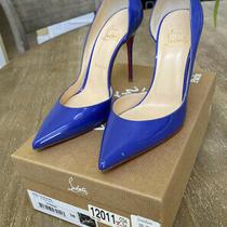 Christian Louboutin Heels Pumps 38 Iriza 100 Patent Pervenche Blue/purple Photo
