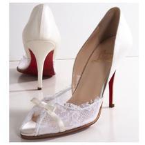 Christian Louboutin Ivory Wedding Shoes Photo